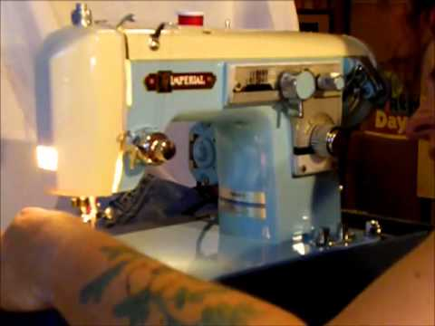 Imperial sewing machine demonstration