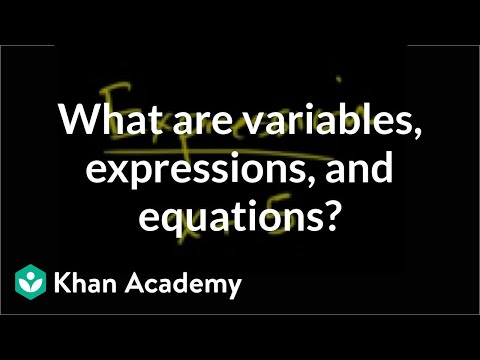 What are variables, expressions, and equations? | Introduction to algebra | Algebra I | Khan Academy