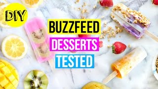 Testing buzzfeed recipes ep 5: healthy summer treats! diy fruit popsicles!