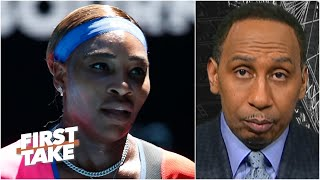 Stephen A. thinks Serena is considering retirement with Naomi Osaka standing in her way | First Take