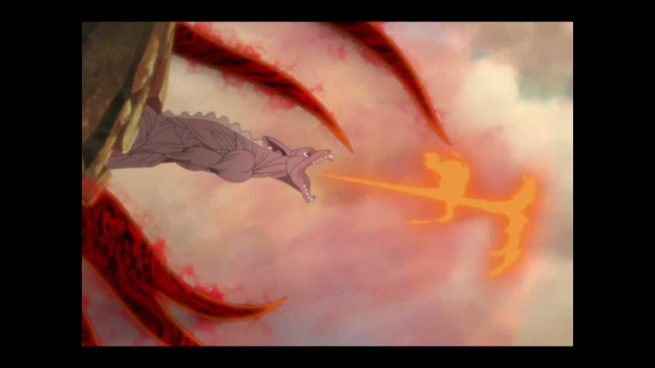 Naruto nine tails transformation - YouTube