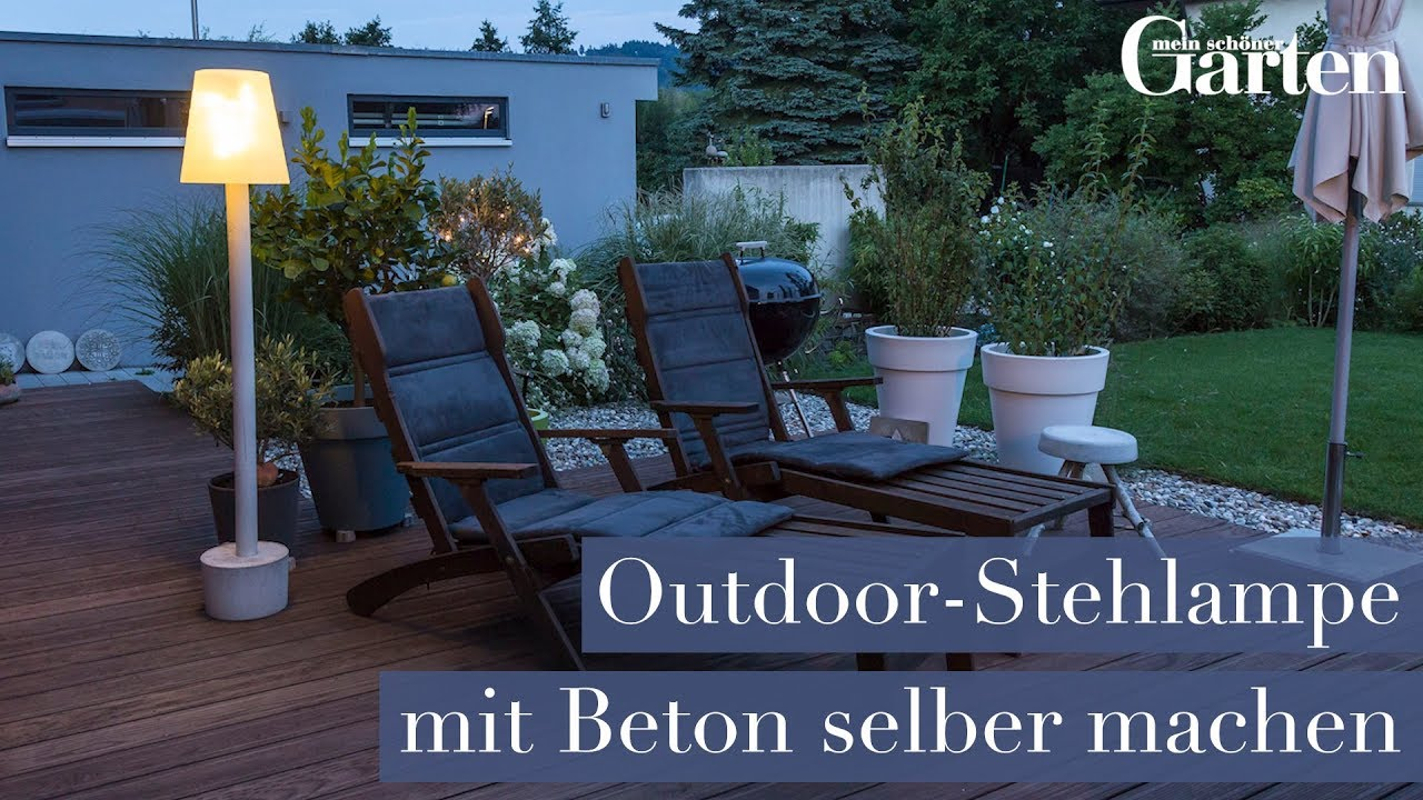 bauanleitung outdoor stehlampe selber machen youtube. Black Bedroom Furniture Sets. Home Design Ideas