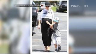 Penampilan Christina Aguilera saat hamil tua