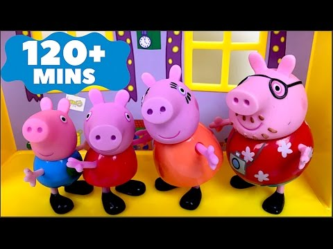 BEST VIDEOS WITH PEPPA PIG GEORGE MUMMY AND PAPA PIG - FUN LONG VIDEO FOR KIDS AND TODDLERS OVER 2H