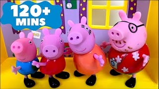 BEST VIDEOS WITH PEPPA PIG GEORGE MUMMY AND PAPA PIG - FUN LONG VIDEO FOR KIDS AND TODDLERS OVER 2H thumbnail