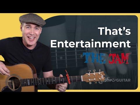 That's Entertainment - The Jam - Paul Weller Strumming Beginner Guitar Lesson Tutorial (BS-621)