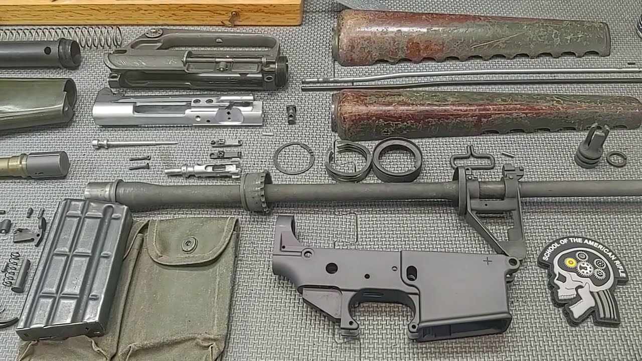 Part 2 - Cleaning & Restoration results on a 60 year old Armalite/Colt 601 AR15 Parts Kit.