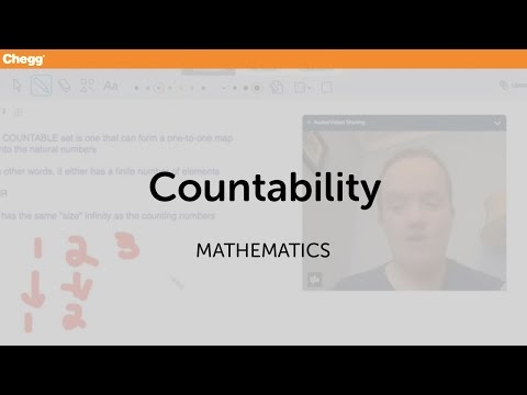 Countability | Math | Chegg Tutors