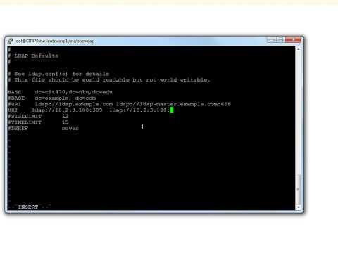 06 Setup ldap client and connect it to ldap server