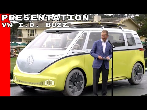 VW I.D. BUZZ Bus Presentation in Pebble Beach