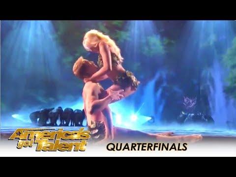 Zurcaroh: Best Dance Group RECREATE Adam & Eve In Heaven! | America's Got Talent 2018