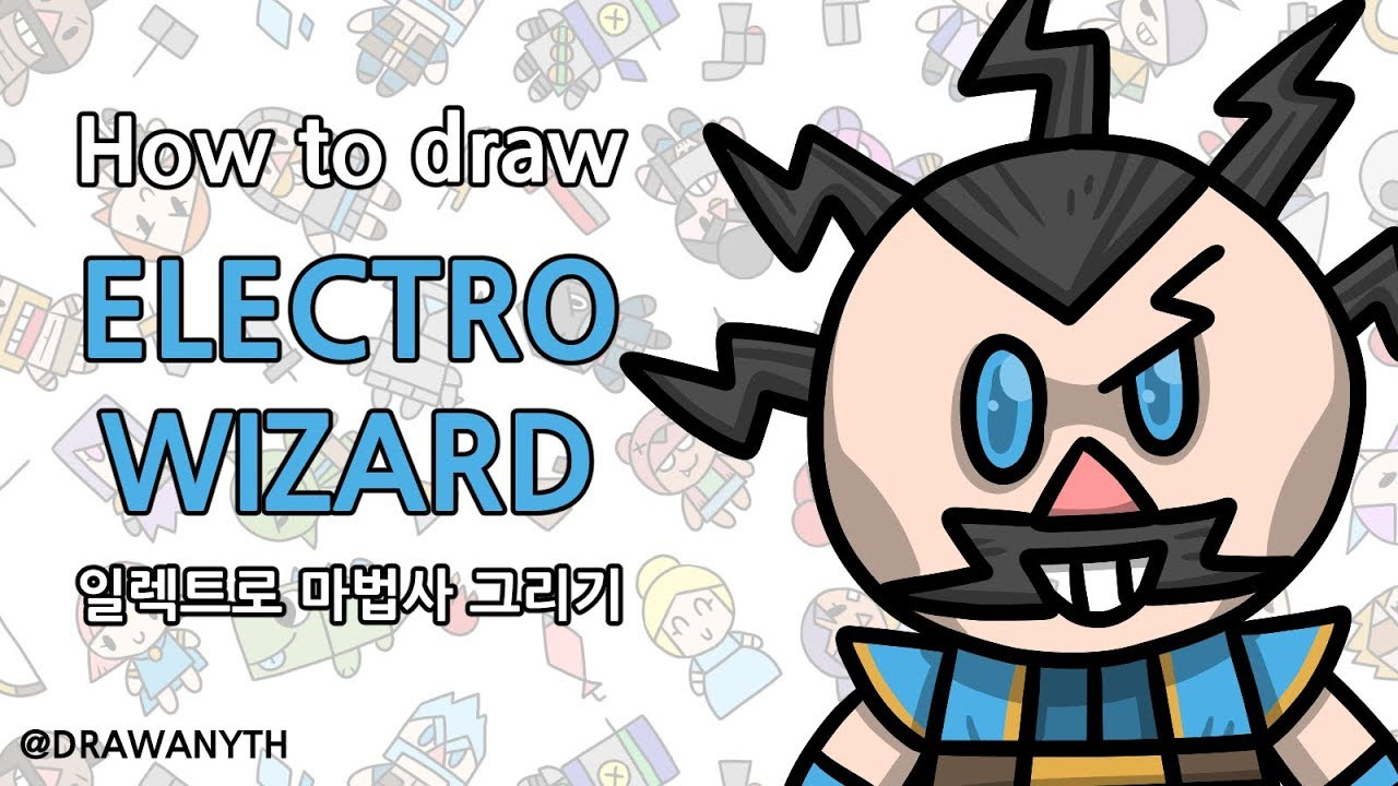 how to draw electro wizard clash royale