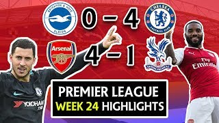 PREMIER LEAGUE WEEK 24 HIGHLIGHTS, GOALS & REVIEW- ARSENAL 4 - 1 CRYSTAL PALACE ! ALEXIS NOT NEEDED?