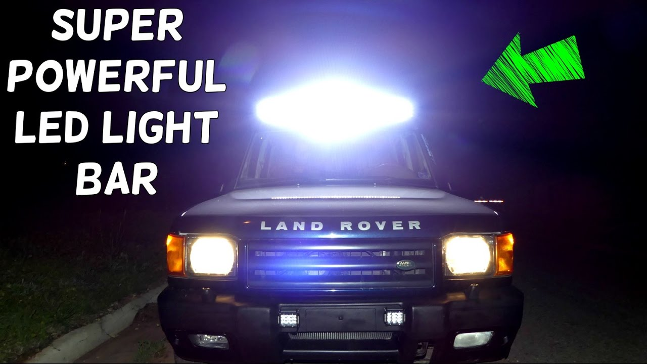 Nilight 50inch 288w Curved Led Light Bar On Land Rover