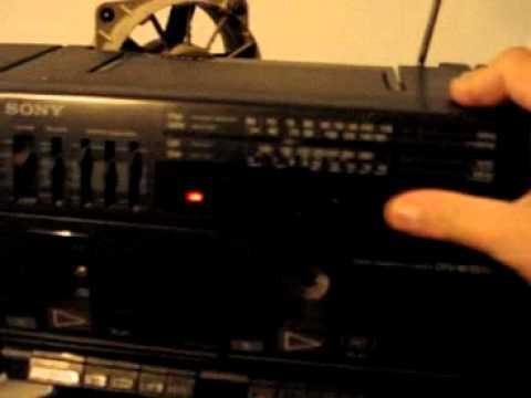 Rare polish version of Sony CFS-W350L boombox with both OIRT and CCIR FM radio