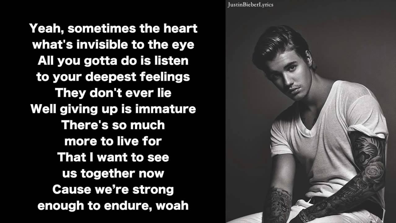 Justin Bieber - Trust [Lyrics] Aprende Ingles Online