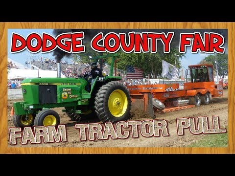 Farm Tractor Pull at the Dodge County Fair