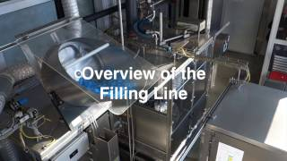 used serac fresh milk filling line with pasteuriser plant under operating condition