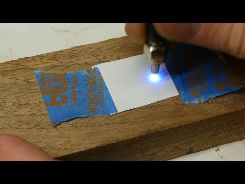 UV laser creates disappearing ink in normal printer paper