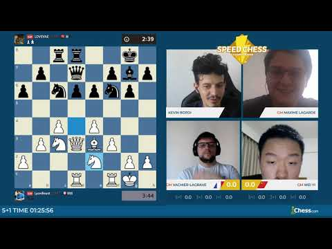 Speed Chess - MVL Contre Wei Yi Commenté Par Le Champion De France Maxime Lagarde