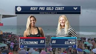 Sally Fitzgibbons vs. Stephanie Gilmore - Roxy Pro Gold Coast 2017 Semifinals, Heat 2