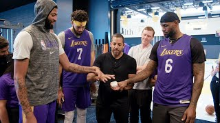 David Blaine Makes Cards Disappear for Anthony Davis and LeBron James - David Blaine: The Magic Way