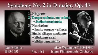 Sibelius: Symphony No. 2, Watanabe & JPO (1962) シベリウス 交響曲第2番 渡邉暁雄