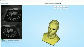 [3DMaster] Quét Mẫu 3D chi tiết tượng Cr7 bằng máy Scan EinScan Pro