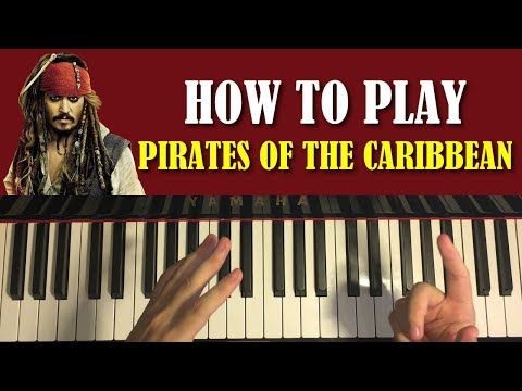 HOW TO PLAY - Pirates Of The Caribbean Theme (Piano Tutorial Lesson)