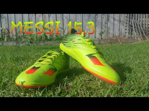 Messi 15.3 indoor soccer shoes unboxing