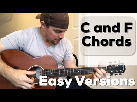2 Versions Of C And F Chords | Beginner Guitar Lesson