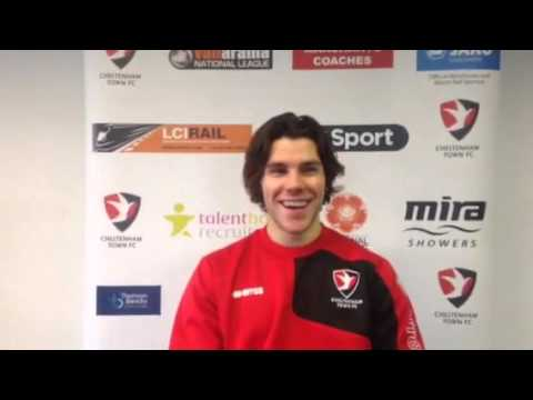 Dan Holman on signing for Cheltenham Town