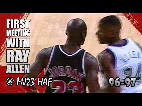 Michael Jordan vs Ray Allen Highlights Bulls vs Bucks (1996.12.03)-Rookie Ray Got SCHOOLED!