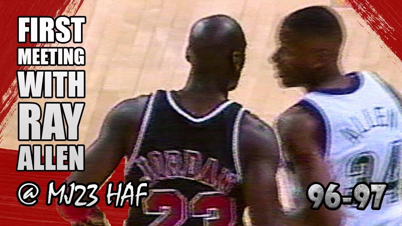 93f75a7bc9642e Michael Jordan vs Ray Allen Highlights Bulls vs Bucks (1996.12.03)-Rookie  Ray Got SCHOOLED!