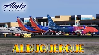 FSX [HD] - Alaska Airlines | Boeing 737-900 | Approach to Albuquerque