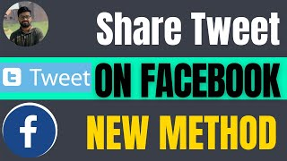How to share tweet on Facebook 2021 | twitter to facebook