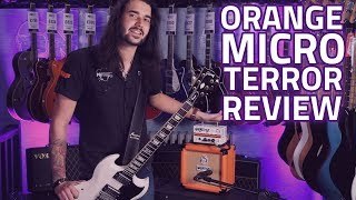 Orange Micro Terror Guitar Amplifier Head Demo Review w/ PPC108 Cab