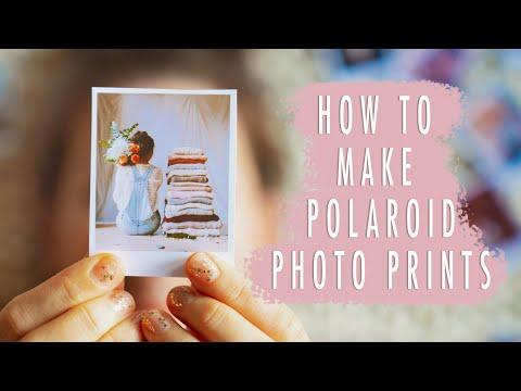 HOW TO MAKE POLAROID PICTURES (fun & quick tutorial)