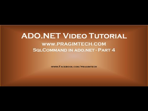 SqlCommand in ado.net - Part 4