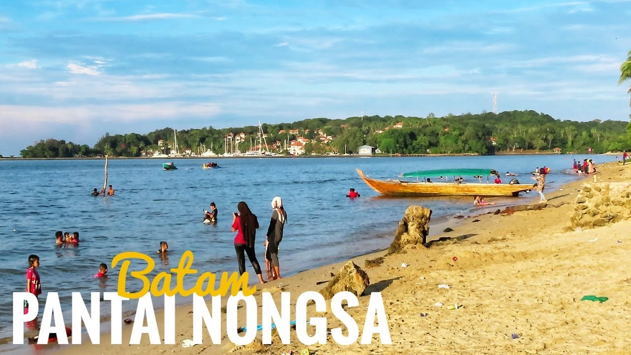 Wisata PANTAI NONGSA Batam  Batam Nongsa Beach Attraction  Tujuan Wisata  Batam