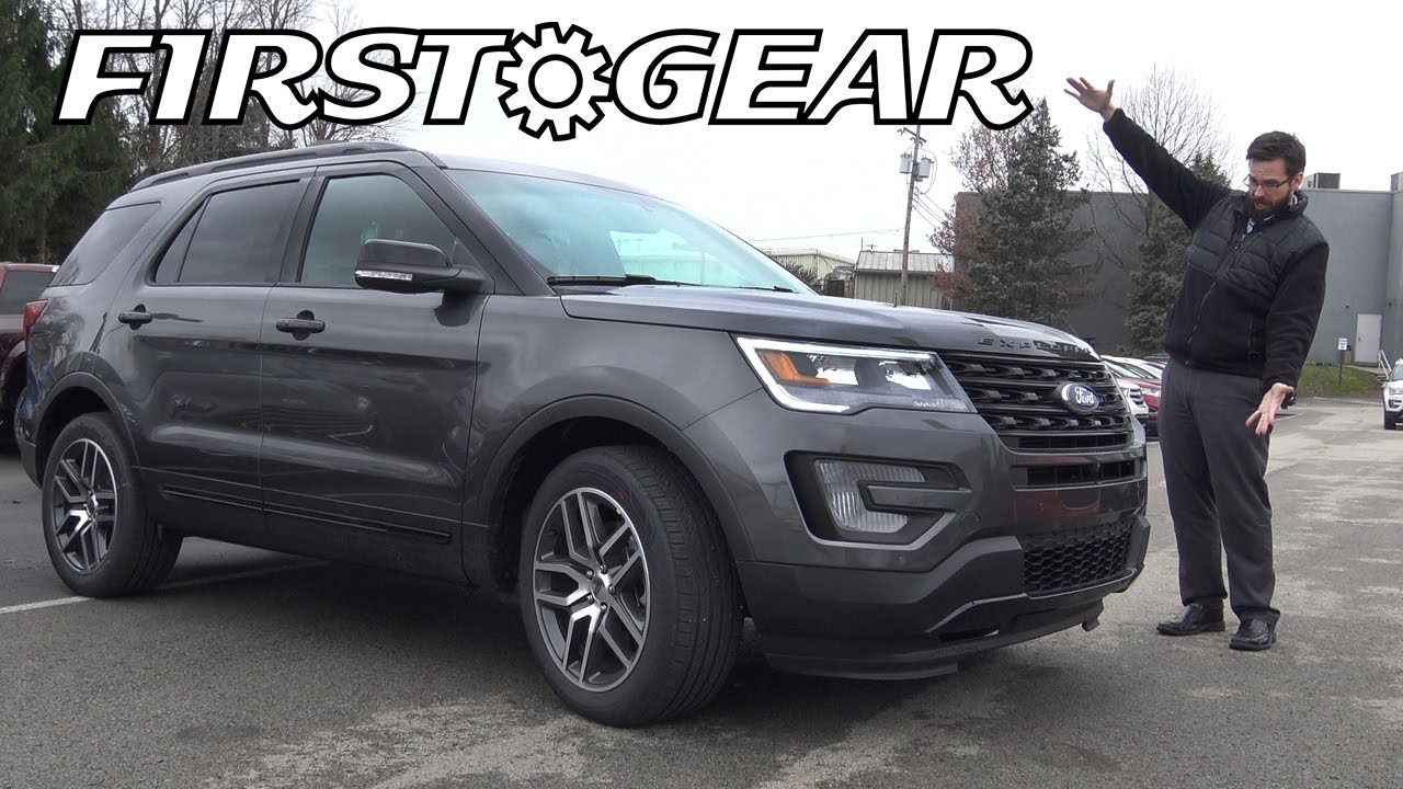 first gear 2017 ford explorer sport review and test drive youtube. Black Bedroom Furniture Sets. Home Design Ideas