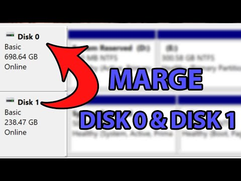 How To Merge Disk 0 And Disk 1 Windows 10 | Extend C Drive To Another Disk