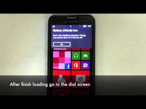 How to Unlock Samsung Ativ S (GT-i8750 or SGH-T889M) Windows Phone Network Instructions