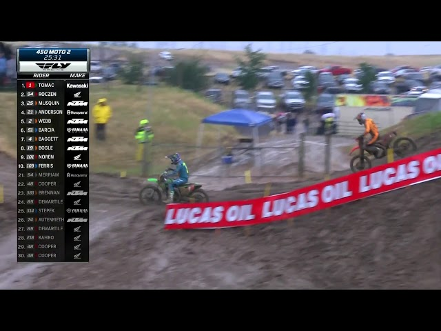 2019 Hangtown Motocross - 450 Moto 2 Rozcen charges for the lead