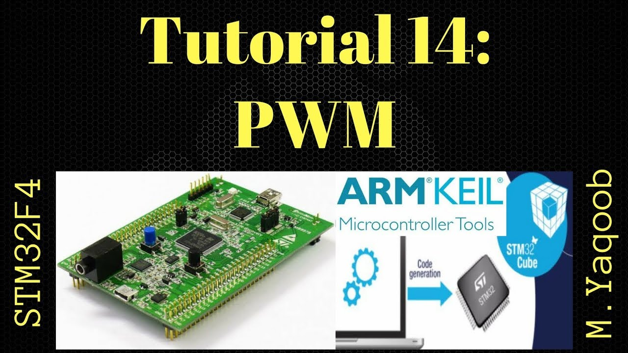 STM32F4 Discovery board - Keil 5 IDE with CubeMX: Tutorial 14 PWM - Updated  Dec 2017