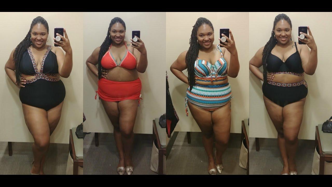 e18f7d47ee3d4 Plus Size Swimwear Try On