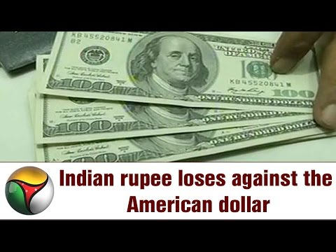 Indian Rupee Loses Against The American Dollar