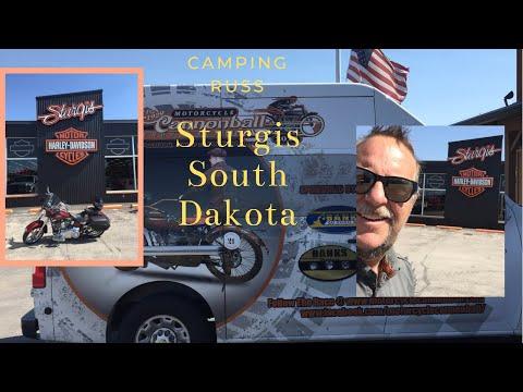 Camping Russ, Sturgis South Dakota Cannonball Run 2018 Motorcycles.