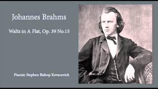 Johannes Brahms - Waltz in A Flat, Op.39 No.15 (Piano Solo)