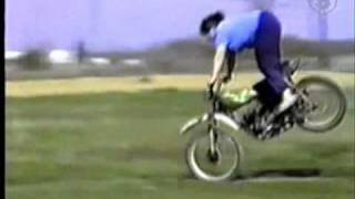 Big Girl wrecks her dirt bike